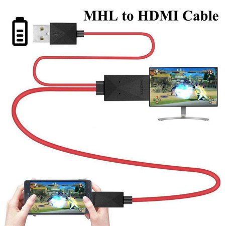 Mhl Adapter Cable - MHL to HDMI Adapter Micro USB to HDMI 1080P HD TV Cable Adapter for Samsung S3 S4 S5 red
