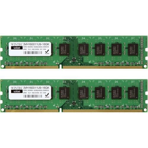 Wintec Value DDR3 1600MHzCL11 16GB (2 x 8GB) UDIMM Kit
