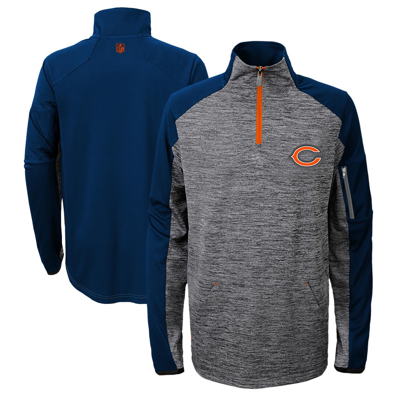 "Chicago Bears Youth NFL ""Paramount"" 1/4 Zip Pullover Sweatshirt"