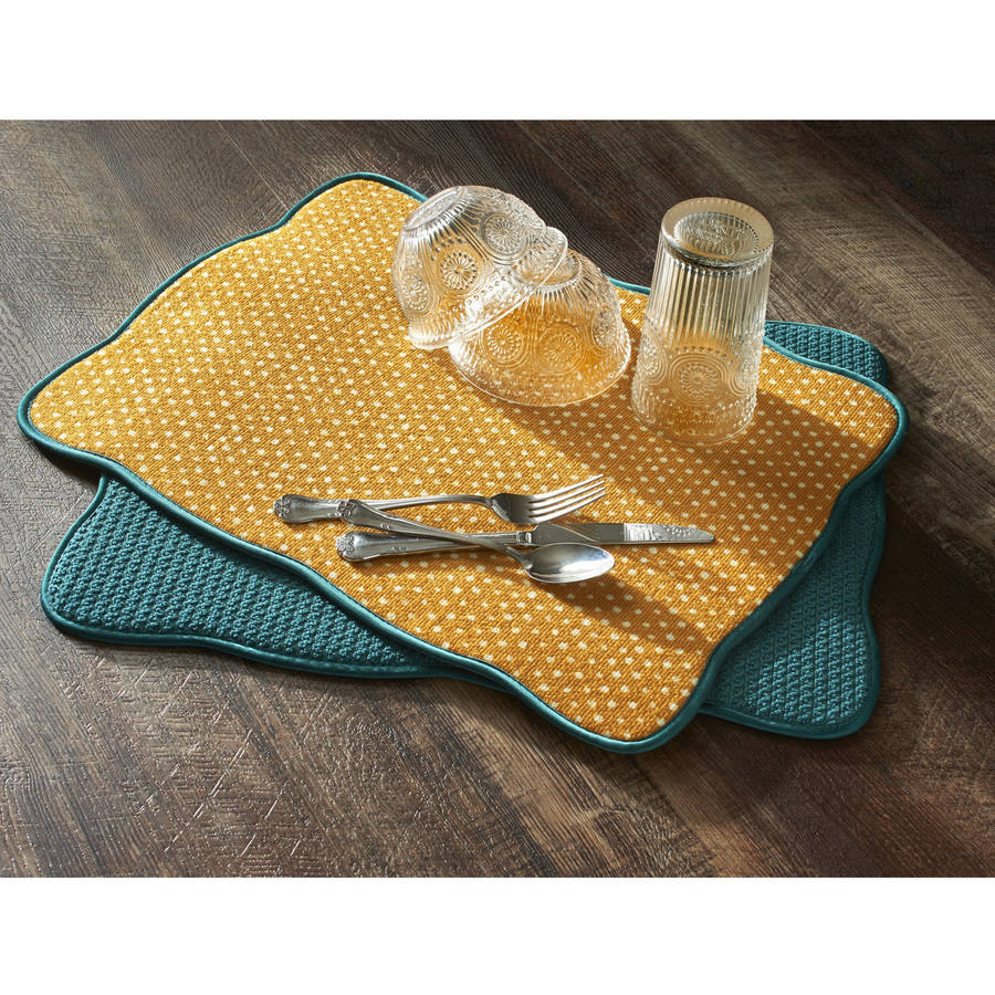 The Pioneer Woman Vintage Geo Dish-Drying Mats, Pack of 4