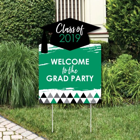 Green Grad - Best is Yet to Come - Party Decorations - 2019 Graduation Party Welcome Yard (Best Strobe Light For Party)