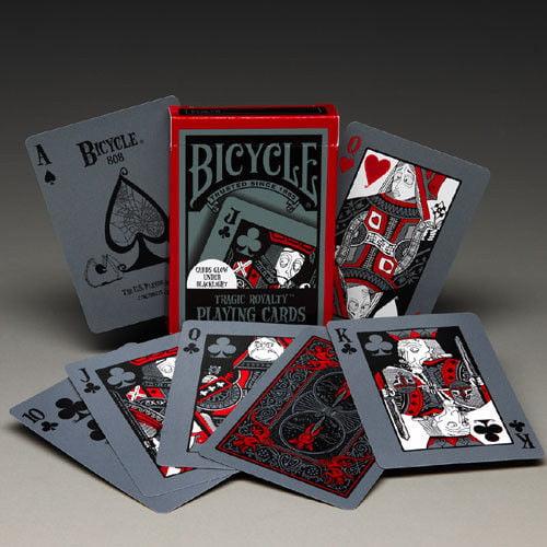 2 Decks Bicycle Tragic Royalty Standard Poker Playing Cards
