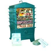 Best Compost Tumblers - VermiHut 5-Tray Worm Compost Bin, Dark Green Review