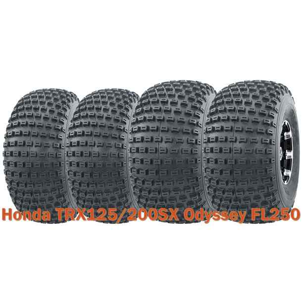 Set Of 4 UTV ATV Tires 20x7-8 & 22x11-8 4PR For Honda