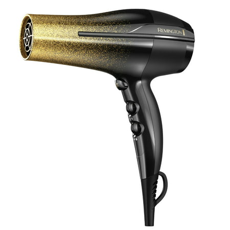 Remington Ultimate Frizz Control Hair Dryer, Gold Glitter,