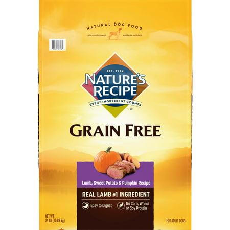 Nature's Recipe Grain Free Easy to Digest Lamb, Sweet Potato, & Pumpkin Recipe Dry Dog Food, 24-Pound
