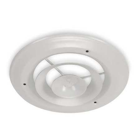 10' In Line Duct - 4JRL1 Round Ceiling Diffuser, Duct Size 10