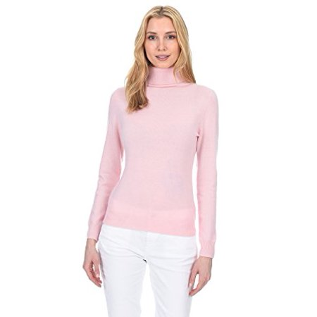 - State Fusio Women's Cashmere Wool Long Sleeve Pullover Turtleneck Sweater