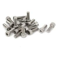 M8x50mm Thread 304 Stainless Steel Phillips Round Pan Head Machine Screws 20pcs