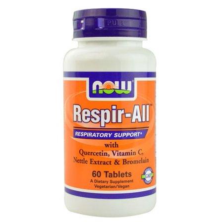 NOW Foods Vegetarian Respir-All Respiratory Support, 60 Ct