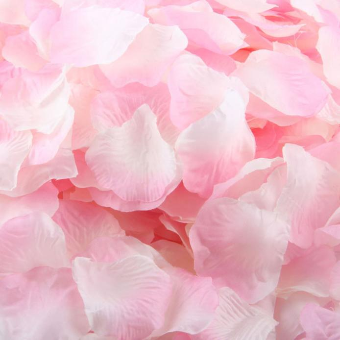Mosunx 1000pcs Pink Silk Rose Artificial Petals Wedding Party Flower Favors Decor
