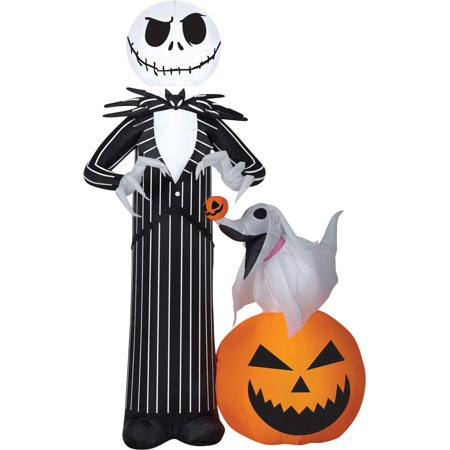 Jack Skellington with Zero Airblown Halloween Decoration (Halloween Decoration Arts Crafts Ideas)