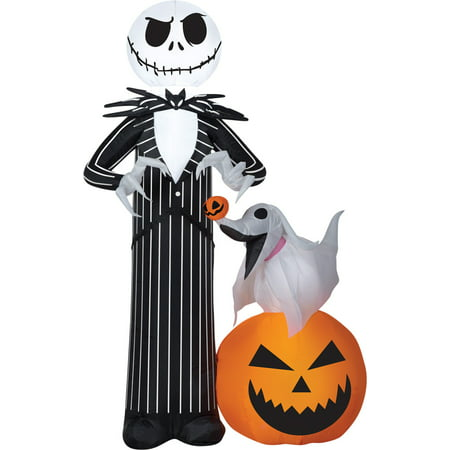 Jack Skellington with Zero Airblown Halloween Decoration