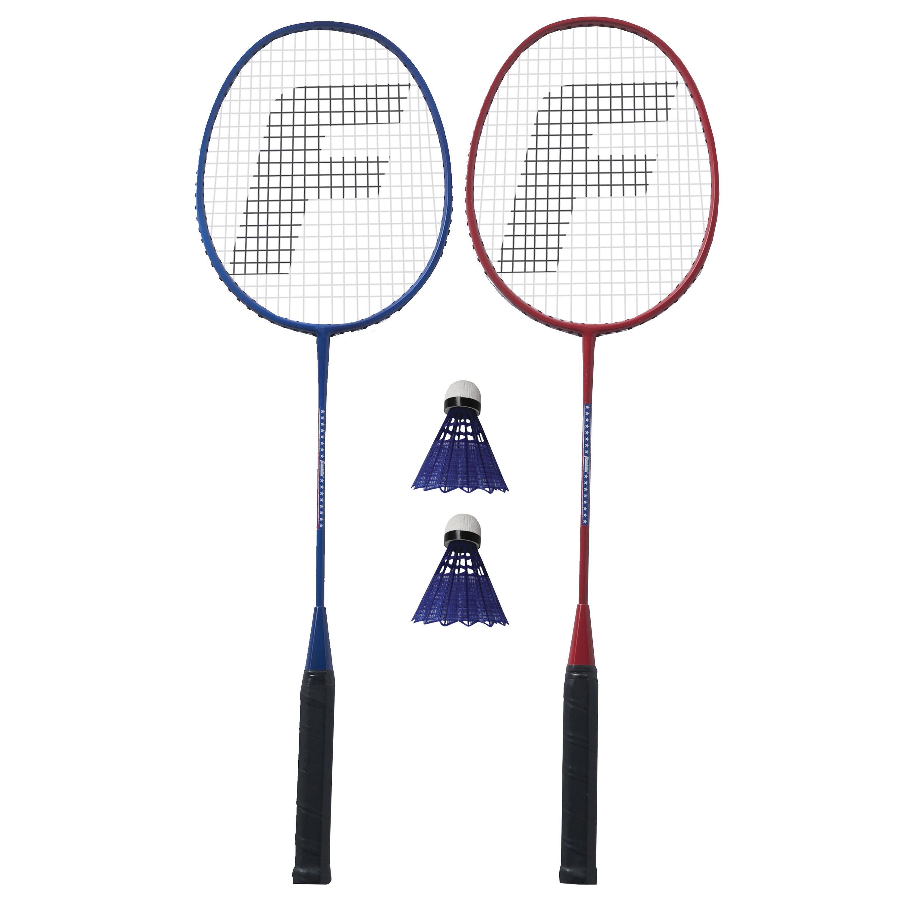 Franklin Sports Red, White and Blue 2 Player Badminton Racket Set
