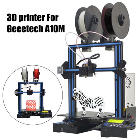 Geeetech A10M 3D Printer GT2560 2 In1 Out Mix-Color Dual Extruder Open Source High-P recision Printing 0.1mm FDM 220*220*260mm