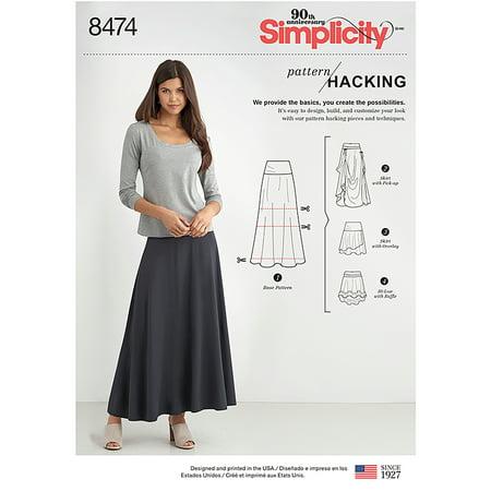 - Simplicity Misses' Size XXS-XXL Skirts Pattern, 1 Each