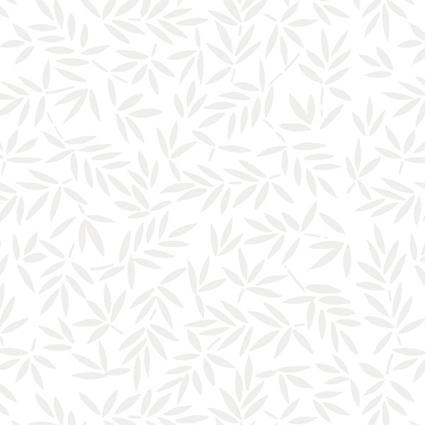 Wilmington Prints White on White Mottled Leaves 108 Inch Wide Quilt Back