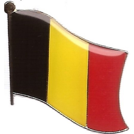 PACK of 3 Belgium Single Flag Lapel Pins, Belgian Pin Badge