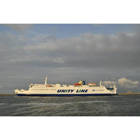 Canvas Print Cruise Cruise Ship Ship Ferry Sea The Baltic Sea Stretched Canvas 10 x