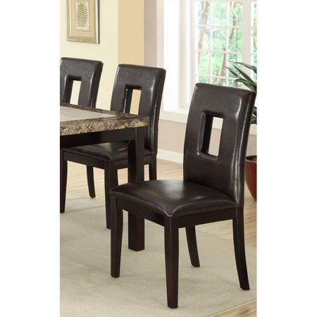 Contemporary Dining Chair w/ Brown Espresso and Pine Wood (Set of 2)