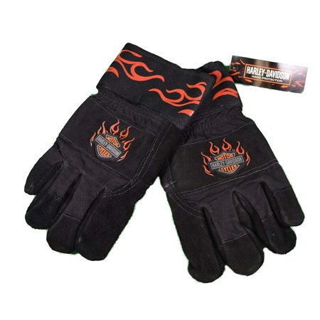 Harley Leather Gloves (Ladies Large Harley Davidson Kevlar Lined Heavy Duty Leather Work Gloves )