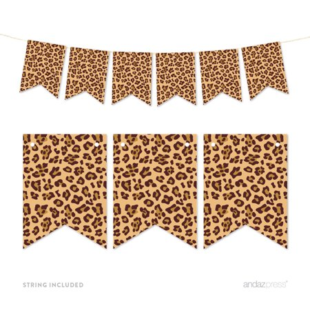 Pennant Party Banner Leopard Cheetah Spots Print (Leopard Print Banner)