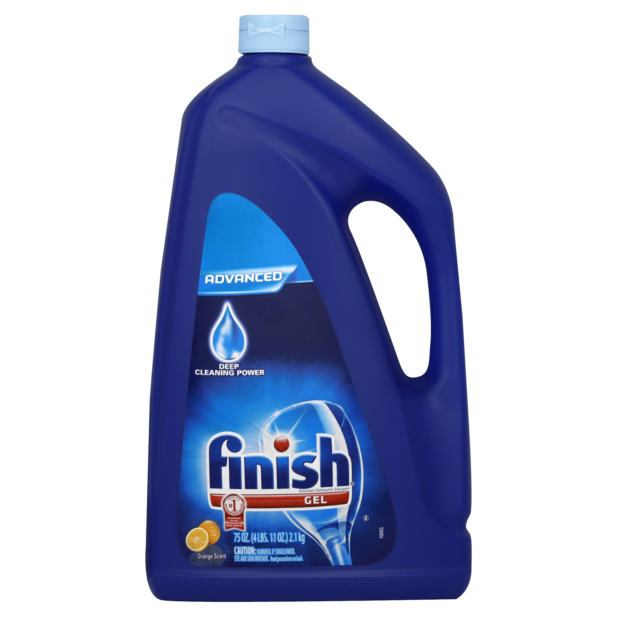 Finish Gel Dishwasher Detergent, Orange Fresh Scent, 75 Ounce