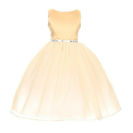 Baby Girl Dresses Special Occasion (Chic Baby Girls Gold Degrade Overlay Festive Special Occasion)
