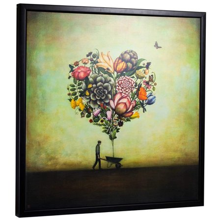 Crystal Art Gallery American Art Decor Big Heart Botany By Duy Huynh Framed Canvas 35 X 35