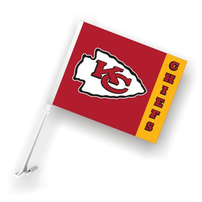 Fremont Die 98977 Kansas City Chiefs- Car Flag W-Wall Brackett