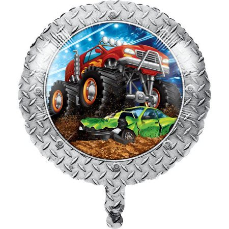 Creative Converting Monster Truck Rally Metallic Balloon 18