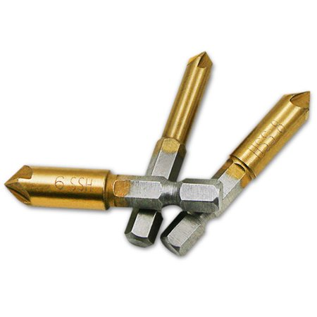 3 Flute Countersink (3 Pcs Flute Countersink Drill Bit Set Counter 6-9mm Sink Chamfer Cutter )