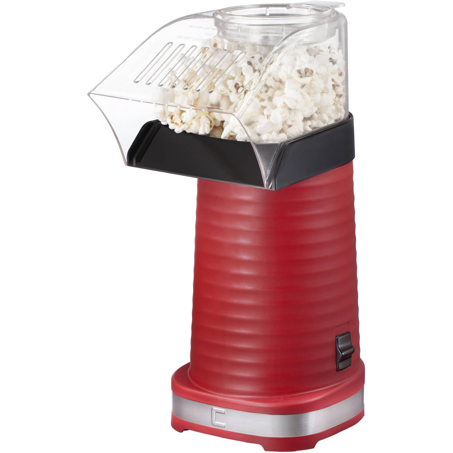 Chefman 12 Cup Air Pop Popcorn Maker, Dishwasher Safe & Measuring Cup Included, Red, RJ33-T
