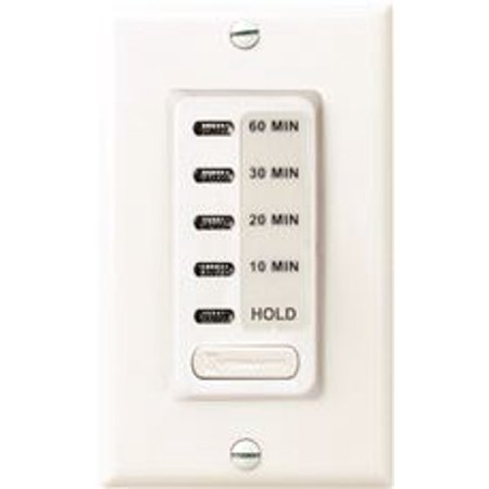 Intermatic Auto-Off Timer 10 To 60 Minute With Hold Feature White