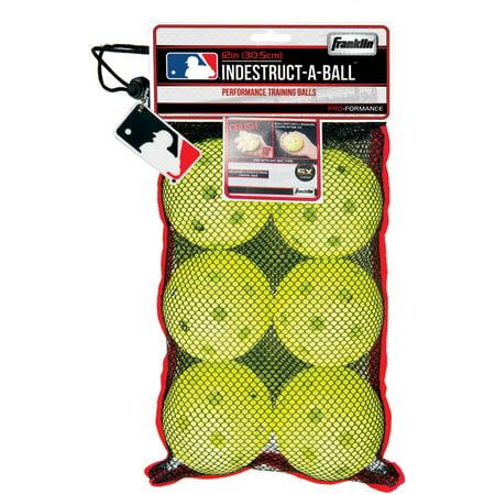 "Franklin Sports MLB 11.1"" Indestruct-A-Balls Oversized Baseball Optic Yellow"