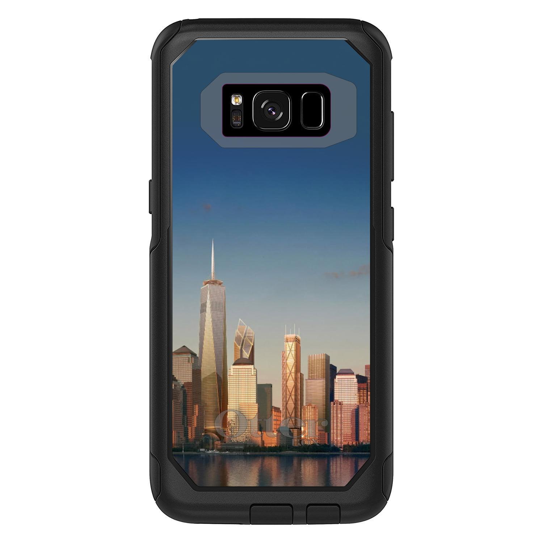 "DistinctInk™ Custom Black OtterBox Commuter Series Case for Samsung Galaxy S8 (5.8"" Screen) - New York Skyline New"