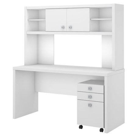 BBF Echo by Kathy Ireland Desk with Hutch and Mobile Pedestal - image 7 de 7
