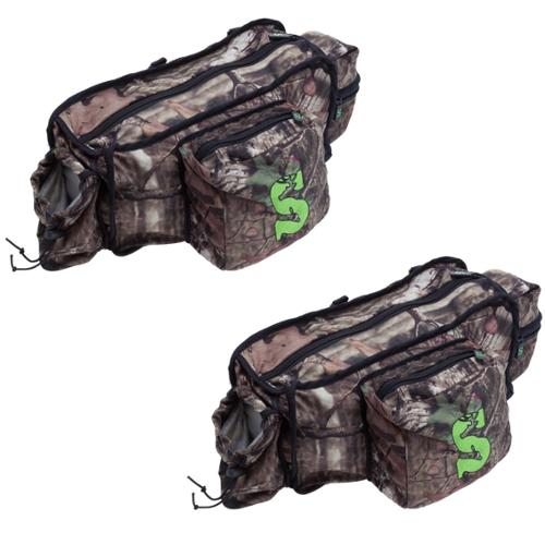 (2) Summit Treestand Hunting Deluxe Front Storage Bags w/Mossy Oak Camo | 85246