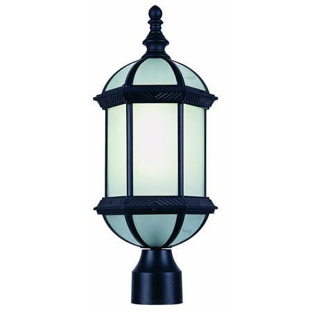 trans globe lighting pl 4186 bk black outdoor post top light ship