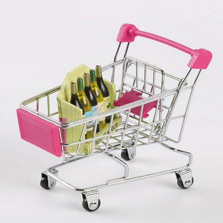Creative Supermarket Mini Shopping Cart Trolley Metal Simulation Kid Toy - image 4 de 6