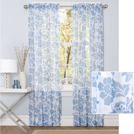 Better Homes and Gardens Flower Garden Sheer Curtain Panel