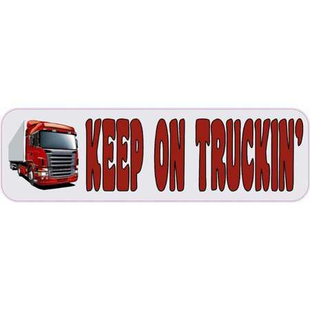 10in x 3in keep on truckin bumper sticker decal vinyl car window stickers decals