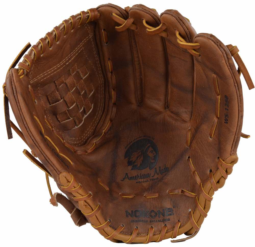 "Nokona 12.5"" Classic Walnut Series Softball Glove, Right Hand Throw"
