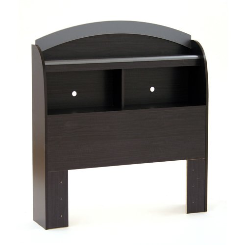 South Shore Cosmos Bookcase Twin Headboard, Charcoal and Black Onyx by South Shore