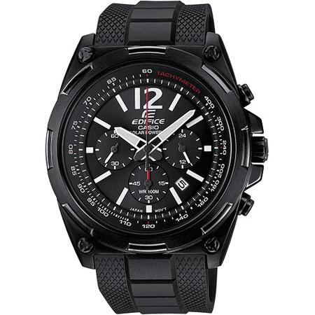ca8e7712f Casio - Men's EFR545SBPB-1B Edifice Tough Solar Black Watch Black Dial -  Walmart.com