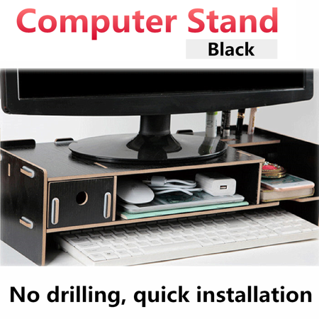 - Monitor Stand Computer Riser with Storage Organizer Office Desk Laptop Cellphone TV Printer Desktop Container,4 colors,18.9