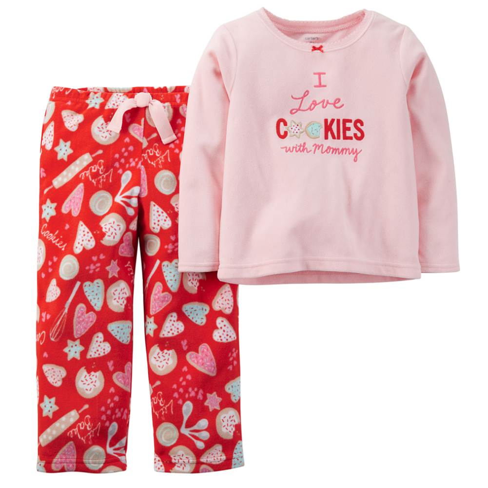 Carters Infant & Toddler Girls I Love Cookies With Mommy Pajama 2 PC Sleep Set