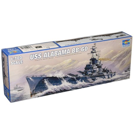 1/700 USS Alabama BB60 Battleship Model Kit, Glue and paint not included By Trumpeter Ship from