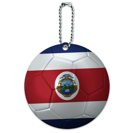 Graphics and More Costa Rica Flag Soccer Ball Futbol Football Round ID Card Luggage Tag (Fiestas Halloween Costa Rica)