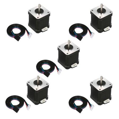5PCS 17HS8401S 48mm Nema 17 Stepper Motor 42 Motor 42BYGH 1.8A 52N.cm 4- for 3D Printer CNC with DuPont